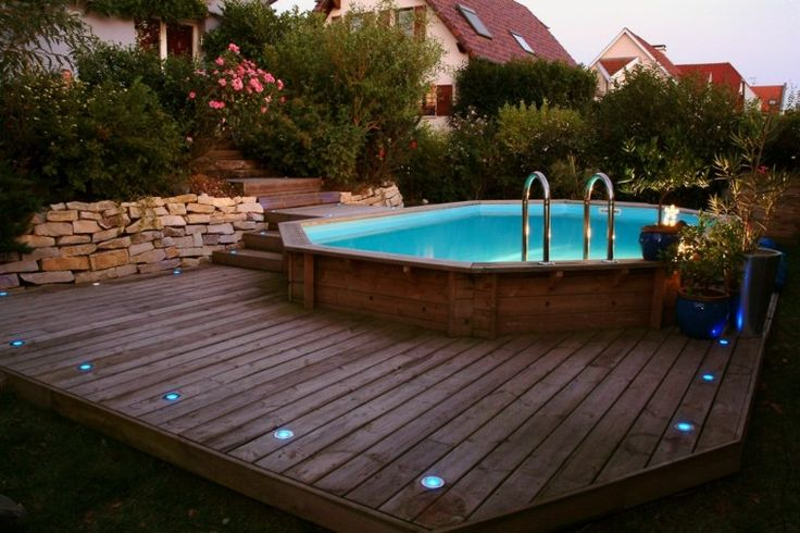 Installer une piscine hors sol - FrenchIMMO Diy swimming pool - bois pour terrasse piscine