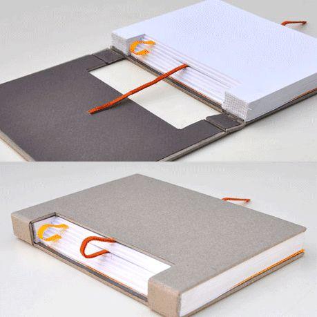 Gedankensprung - smart notebook concept by Austrian creative Konstantin  Schmlzer | Encuadernacin / Bookbing | Pinterest | Book binding,  Bookbinding and ...