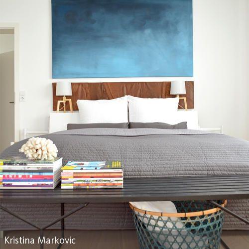Die besten 25+ weißgraues Schlafzimmer Ideen auf Pinterest - schlafzimmer blau grau