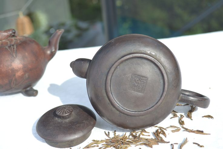 Old #Chinese #handcrafted #teapots, clay #Yixing #antique