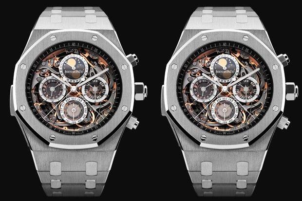 """Audemars Piguet Royal Oak Grand Complication: a versão mais exclusiva do modelo ícone dos relógios esportivos de luxo custa """" apenas"""" US$ 741.000."""