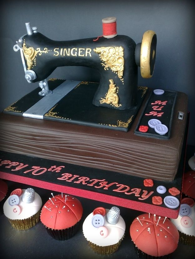 Sewing Machine Cake | 25 Craft-Inspired Desserts That Are (Almost) Too Cute To Eat