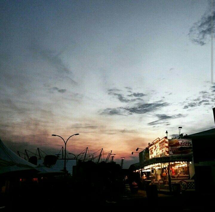 #Sydney #eastershow #sunset