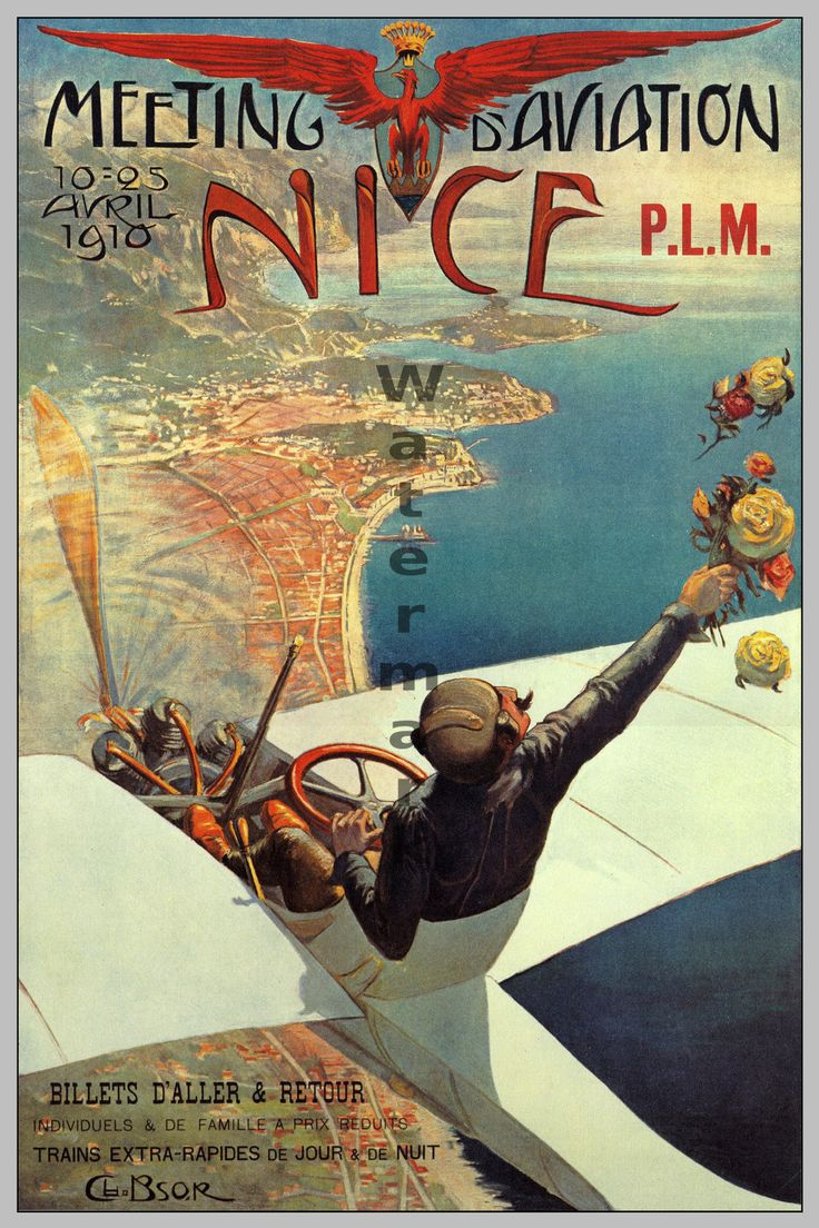 Poster design 19th century - Reproduction Of Neat Poster For Early 20th Century Air Show Great Color Availabe