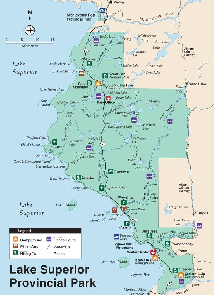 Lake Superior Park Map