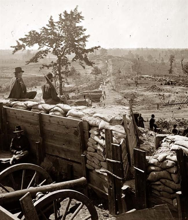 Federal troops in a confederate fort, 1864; Atlanta
