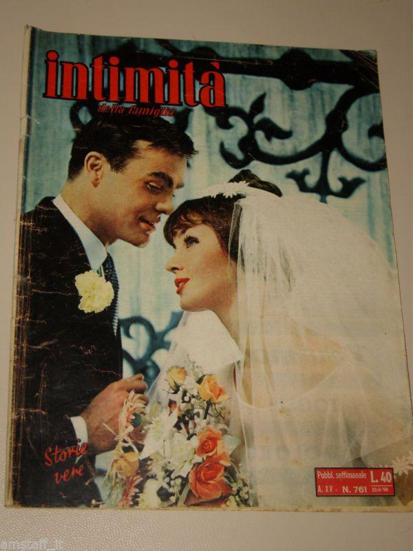 INTIMITA rivista 22 SETTEMBRE 1960 NR.761 storie vere FOTOROMANZO