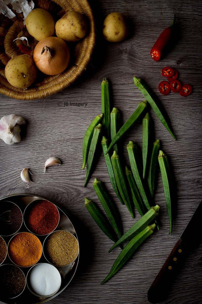 Okra, vegetable, food photography, indian, food blog, milton keynes, buckinghamshire, food styling