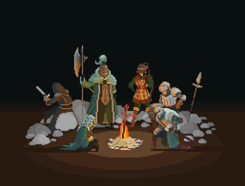 Dark Souls II - Bonfire Pixel Artist: Bandygrass Source: bandygrass.tumblr.com