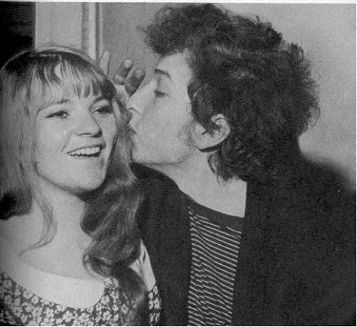 Dana Gillespie and Bob Dylan in 1965.