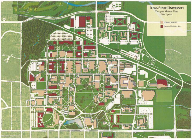 University Of Northern Iowa Campus Map  University Of