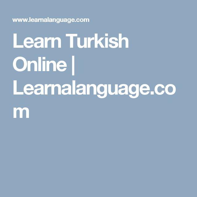 Learn Turkish Online | Learnalanguage.com