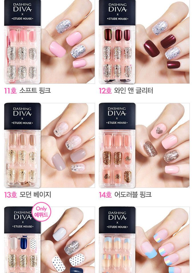 Buy Etude House Dashing Diva Magic Press 20 Types Yesstyle Diva Nails Best Press On Nails Etude House