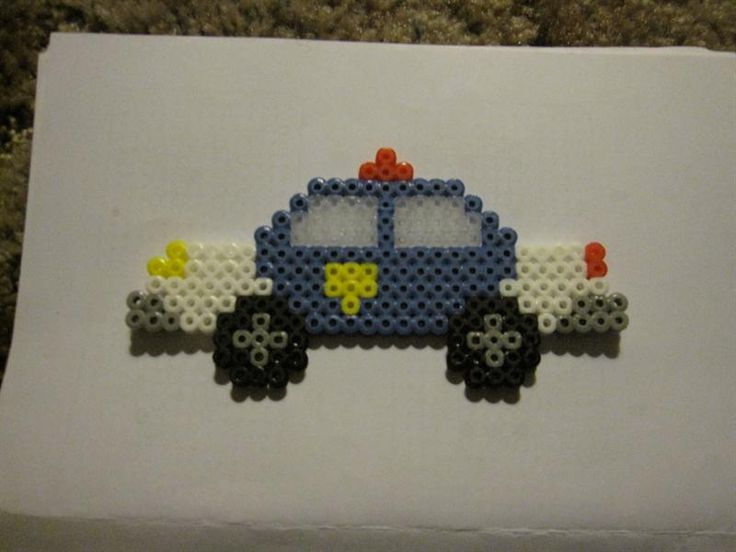 Police car perler beads by Timothy M. - Perler® | Gallery