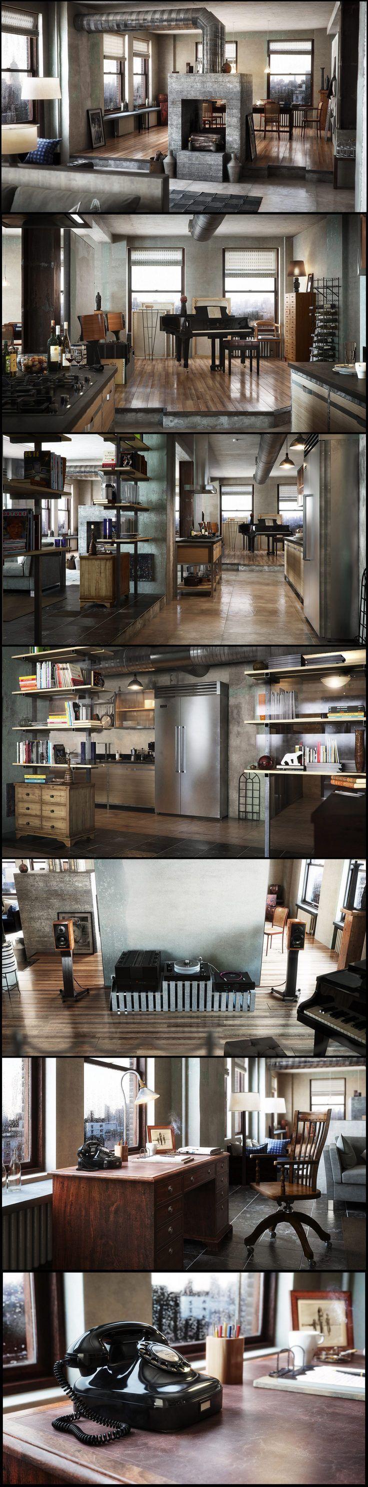 21 best Loft images on Pinterest | Industrial loft, Industrial ...