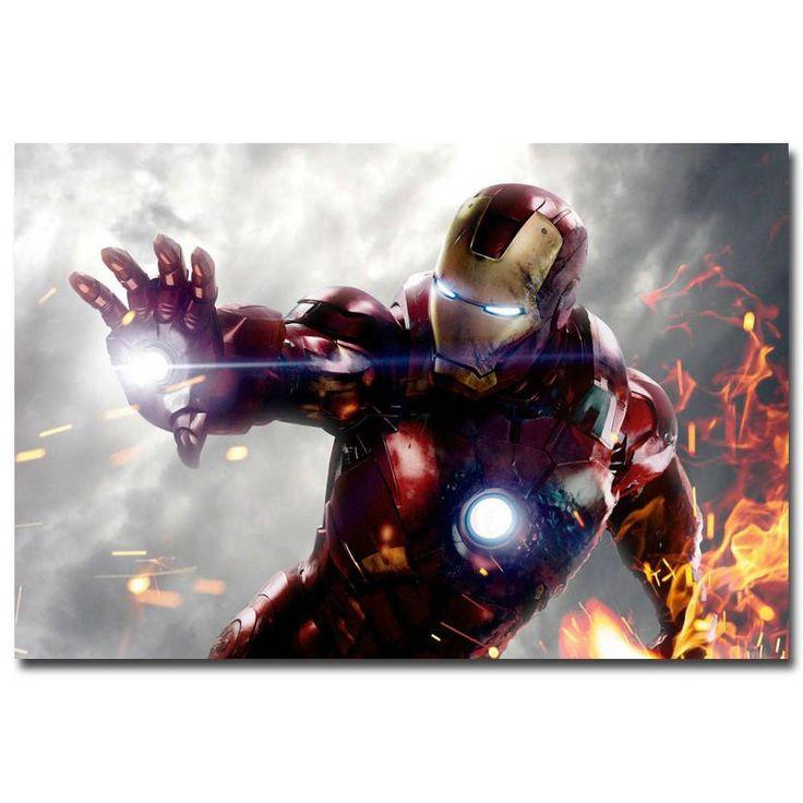 Iron Man - Fire Silk Poster
