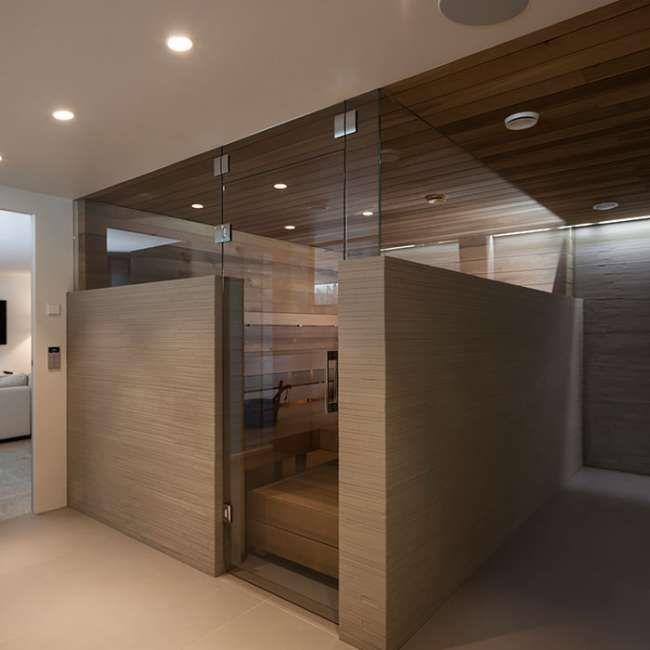 sauna, lasiseinä