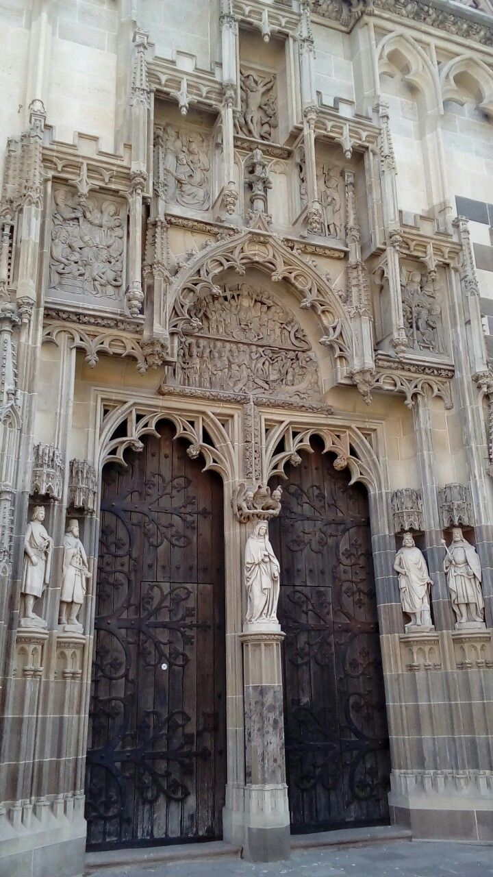 Gothic portal in the St.Elisabeth Cathedral in Košice, Slovakia