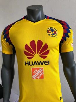 bbfd00234f5 2017-18 Player Version Jersey Club America Third Yellow Shirt  BFC937