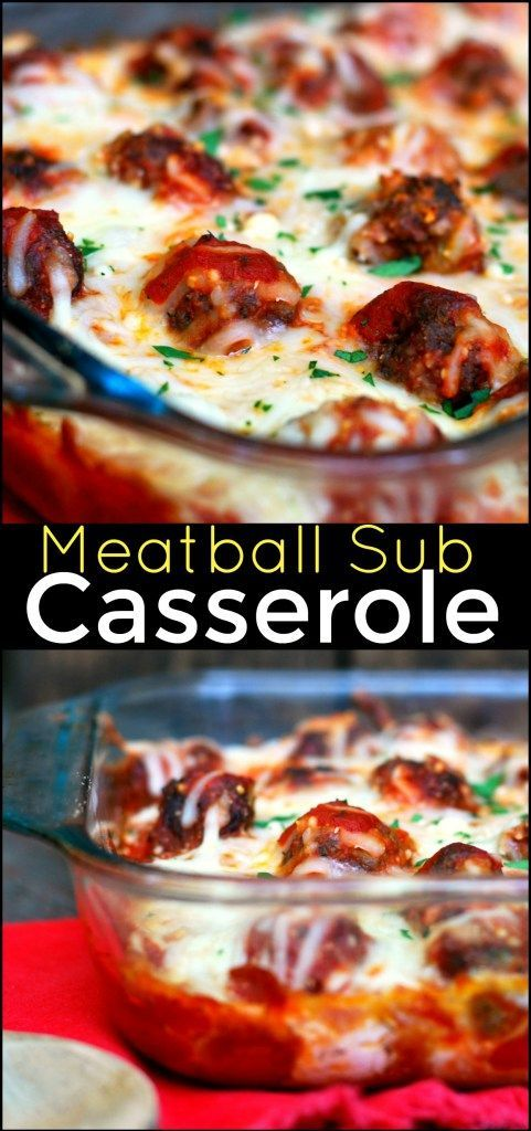 It's official!  This Meatball Sub Casserole is our new favorite!  We could eat it every single day!
