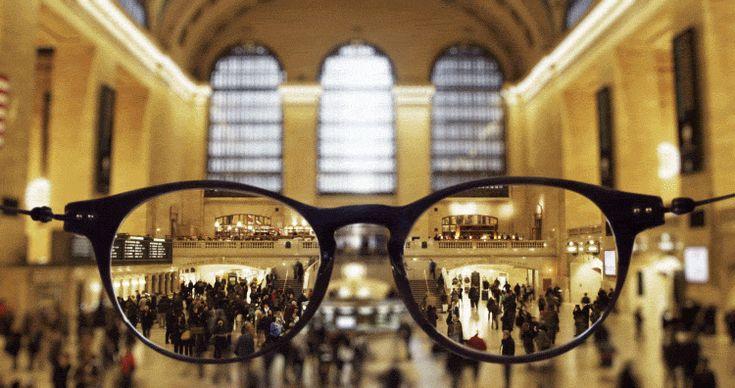 New York through glasses