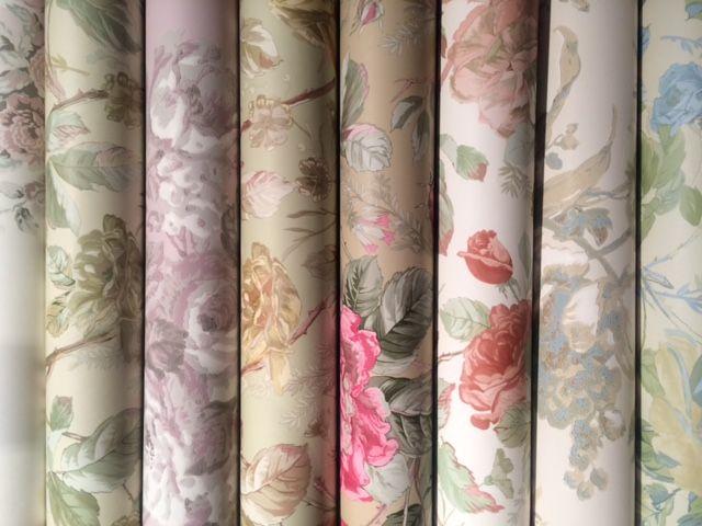 Tapeter med blommor från Ralph Lauren I  Engelska Tapetmagasinet.se