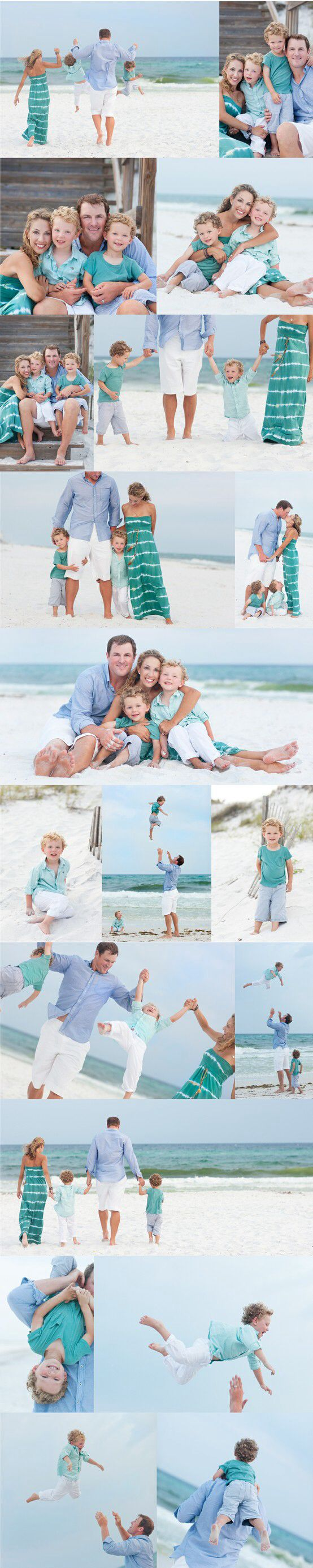 Family of four, playing, beach, close in shots