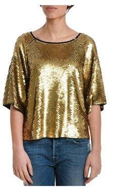 Michael Kors Women's Gold Cotton T-shirt.
