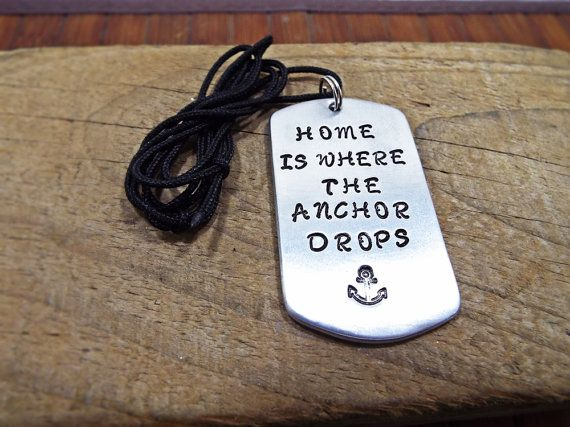 Home Is Where The Anchor Drops Sailor Necklace by Aluminiopassions