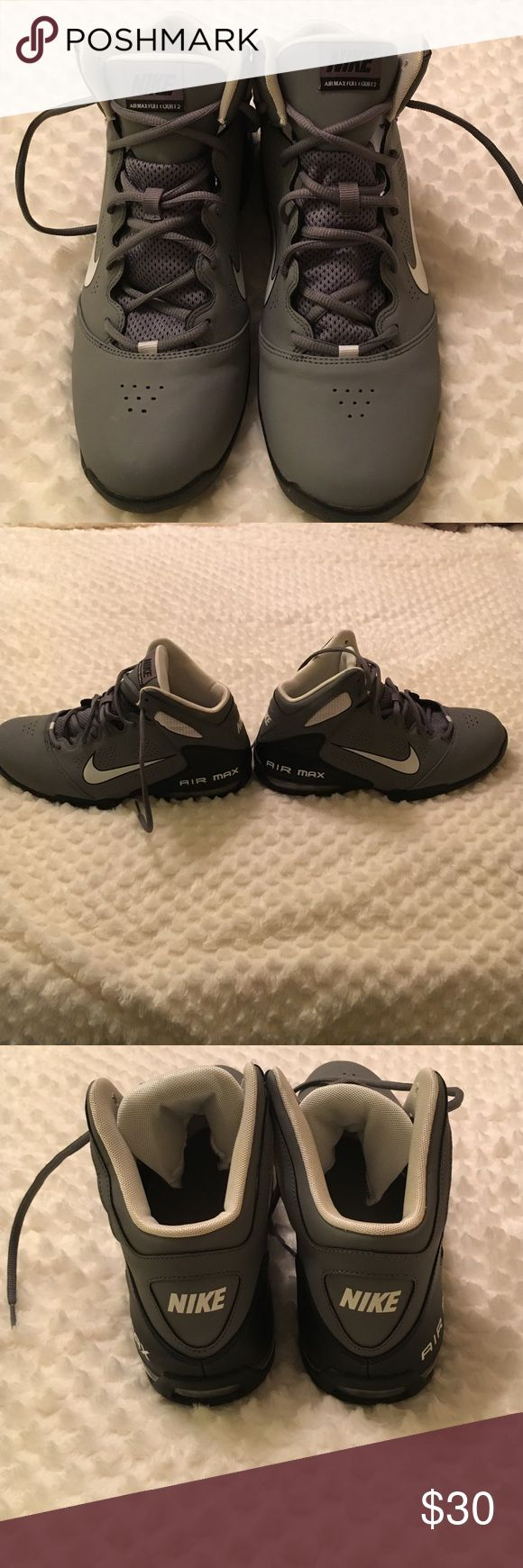 Nike AirMax Full Court 2. Size 9.5. Grey, black and white Nike AirMax Full Court 2. Very lightly used. No scuffs. Nike Shoes Sneakers