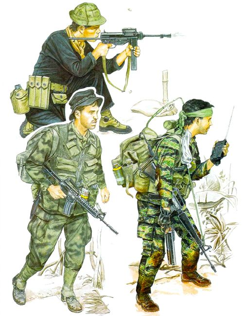 """""""US Special Forces""""    • CIDG Mountain Scout; Plei Yt, 1963   • NCO, Recce Team Leader, MACV-SOG, 1960s   • NCO, Project Delta, 5th SFGA, 1964"""