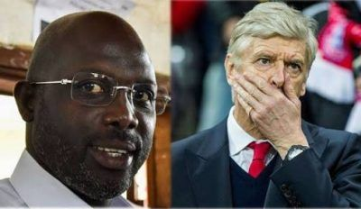 Liberia's President elect and Former Chelsea, Paris-saint Germain, Monaco, AC Milan player, George Weah invites Arsene Wenger to his Presidential inauguration, BBC sport reports. Wenger was Weah's manager at French, Monaco between 1988 and 1992 but said he is not sure is he will be able to attend the inauguration