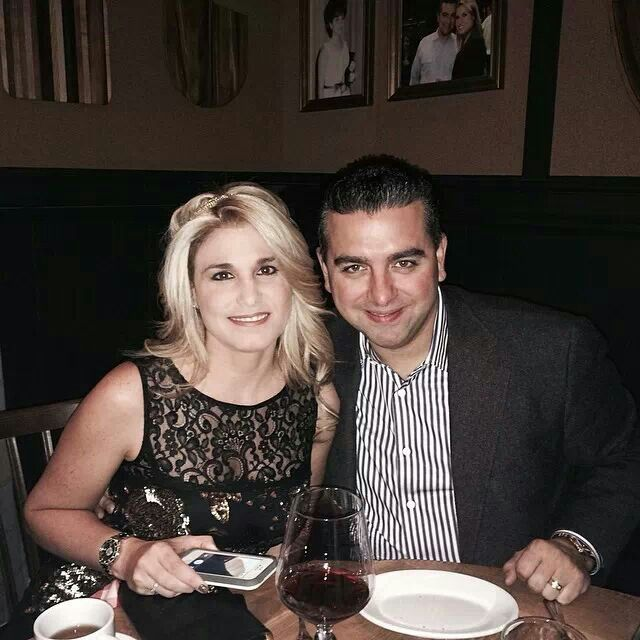 Buddy Valastro with wife Lisa celebrating her birthday.  Posted from Buddy's Facebook post 3-9-14.