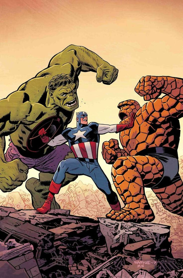 Hulk/Captain America/The Thing