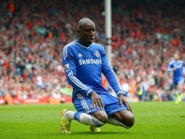 Demba Ba's scoring ritual, at Anfield.