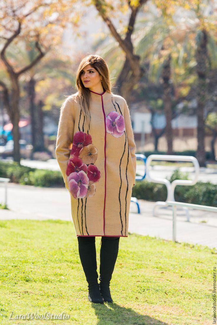 Купить Пальто цвета Camel - бежевый, пальто, женское пальто, осенняя мода, весенняя мода