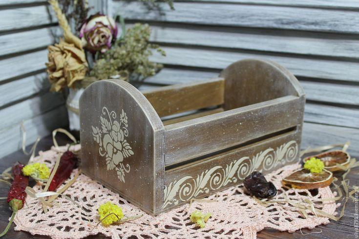 """Купить Ящичек """"Виола"""" - коричневый, ящичек, ящик для кухни, ящик для хранения, ящик для мелочей"""