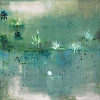 iamjapanese: Bindy Crossland Water Lillies Oil on canvas