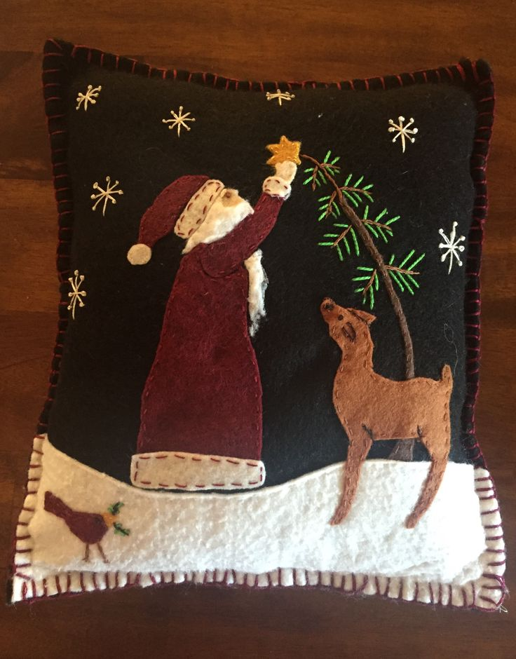 Christmas Santa & Reindeer Pillow - made by me :)