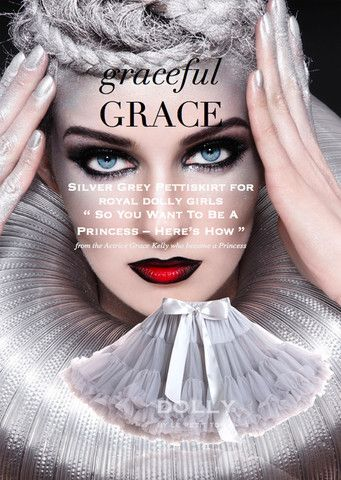 DOLLY Pettiskirt - Grace Kelly - silver grey