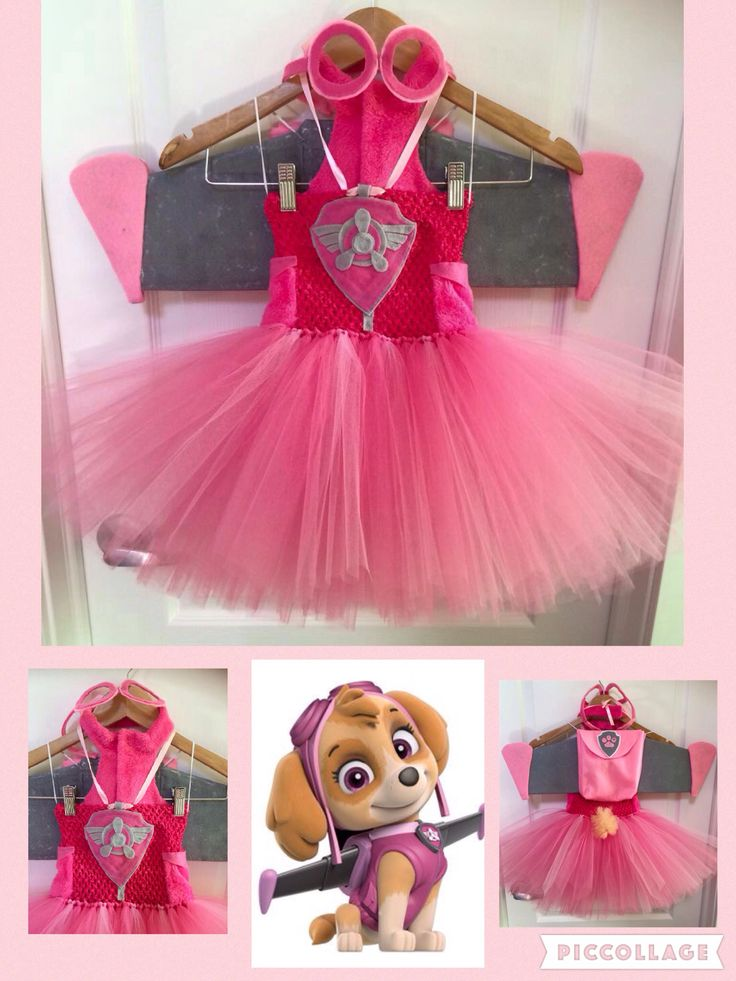 Skye Paw Patrol Tutu dress costume                                                                                                                                                                                 Más