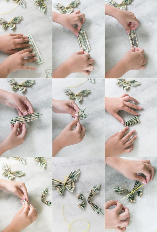 Money Origami Butterfly Lei for Graduation – #Butterfly #Graduation #lei #Money …