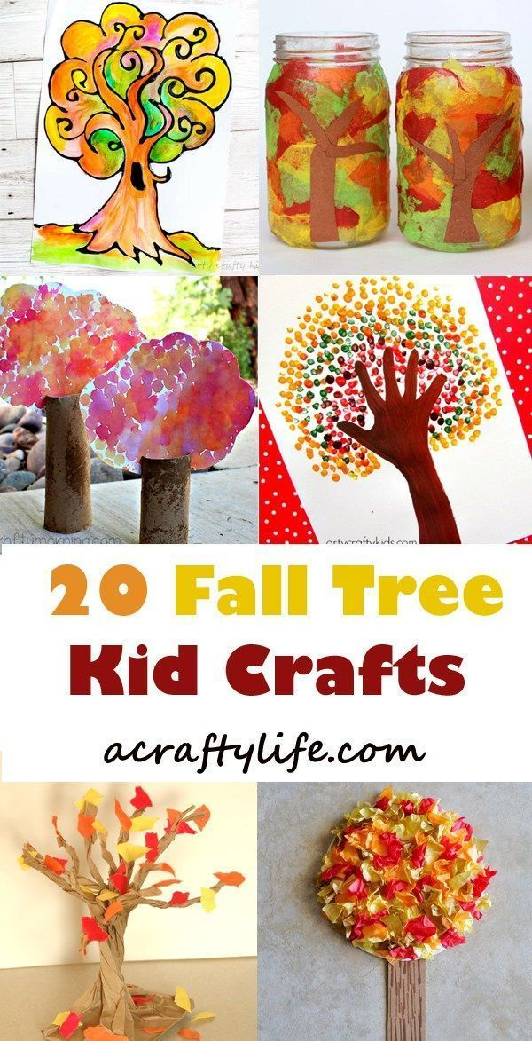 Fall Tree Kid Craft Autumn Crafts For Kids Amorecraftylife Com Presch Arts And