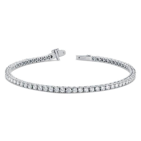 White gold tennis bracelet with diamonds from Beldiamond - www.beldiamond.com
