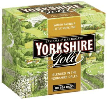 Yorkshire Tea is a black tea blend produced by Bettys and Taylors of Harrogate, one of the few remaining family tea and coffee merchants in the United Kingdom.The company was founded in 1886 by Yorkshire tea merchant Charles Taylor. Yorkshire Tea uses varieties of tea grown in Assam, Sri Lanka and East Africa blended to form five varieties:   Original Yorkshire Tea   Yorkshire Tea for Hard Water   Luxury blend Yorkshire Gold   Yorkshire Seasonal   Decaffeinated
