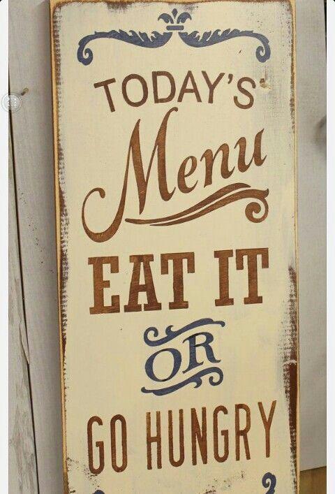 Cute kitchen sign:-)  $20.00