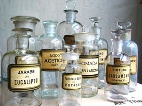 """The Beauty of Collecting Vintage Bottles"" via sasinteriors.net"