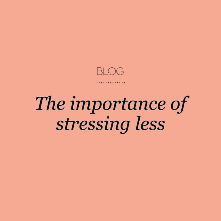 The importance of stressing less #creativewomenscircle
