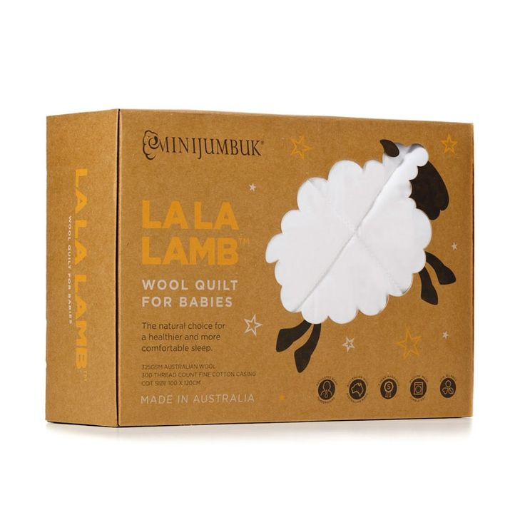 We love the new packaging of our La La Lamb wool quilt for babies. It makes for a great baby gift. #MiniJumbuk #gift #quilt #LaLaLamb #wool #gift #babies #baby #AustralianMade #LOVEWOOL