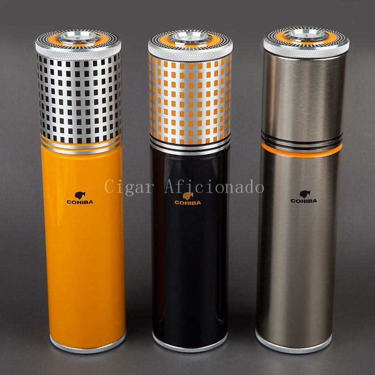 COHIBA Gadgets Yellow & Black & Silver Aluminium Alloy Travel  Cigar Tube Portable Jar MINI Humidor W/ Humidifier Hygrometer //Price: $47.58 & FREE Shipping //     #hashtag1